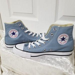 Converse Blue Denim Wash High Tops